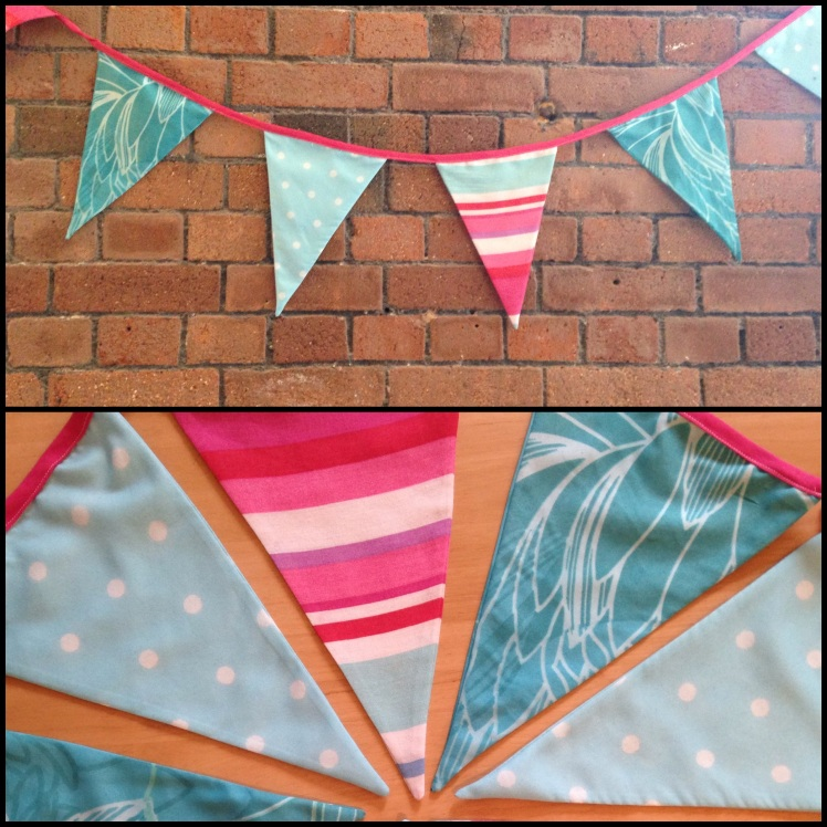 Upcycled bunting