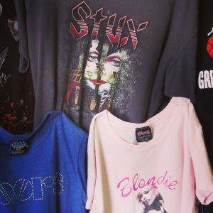Band t-shirts vintage festival style