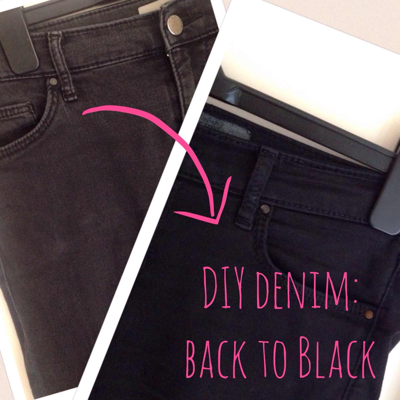diy denim faded machine dye
