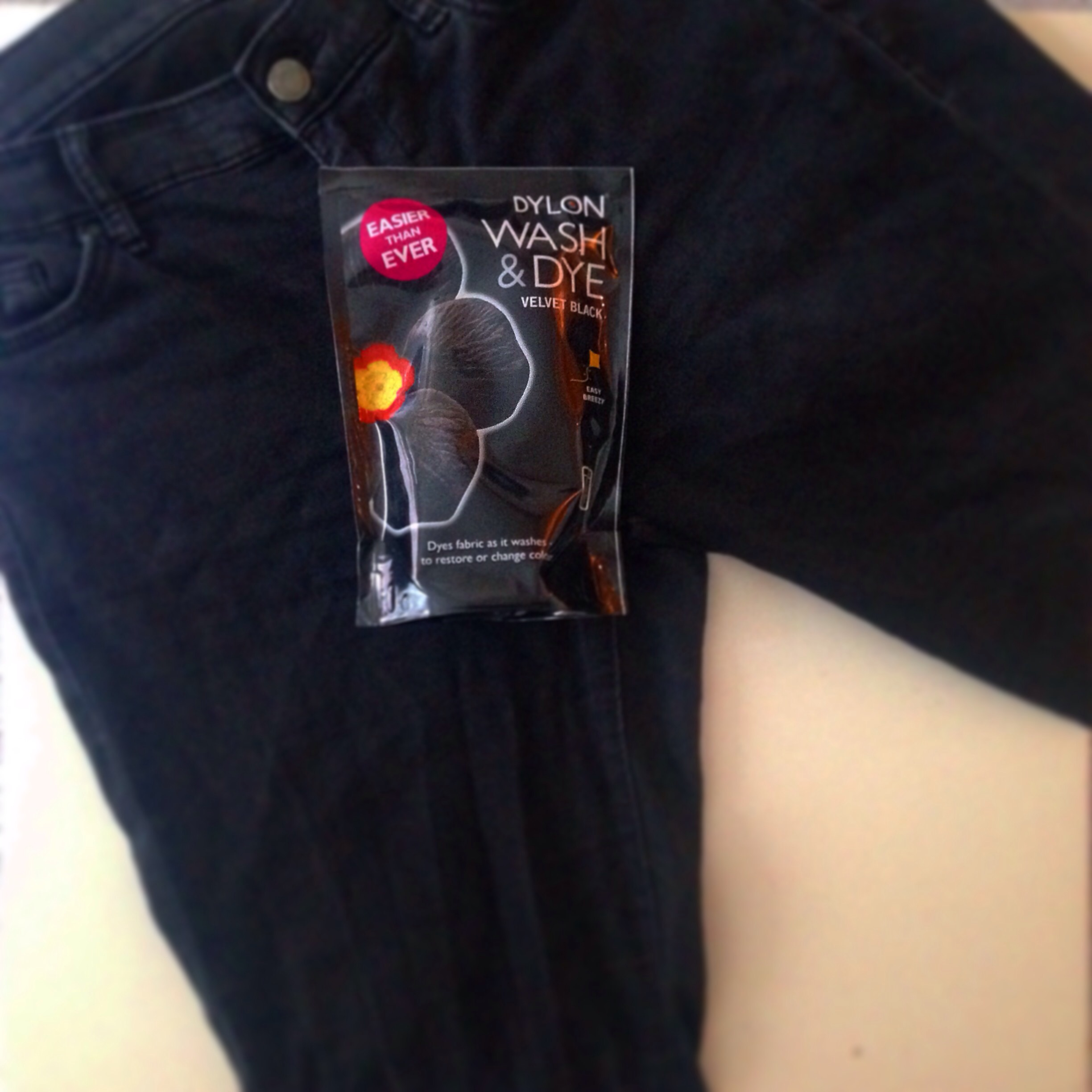 Dylon Machine Dye DIY Jeans Black Denim How to dye